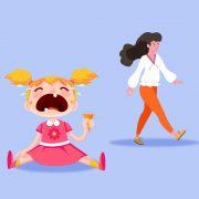 Tipe anak saat berpisah dengan orang tua