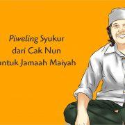 Piweling Singkat dan Emha Ainun Najib sedang duduk bersila